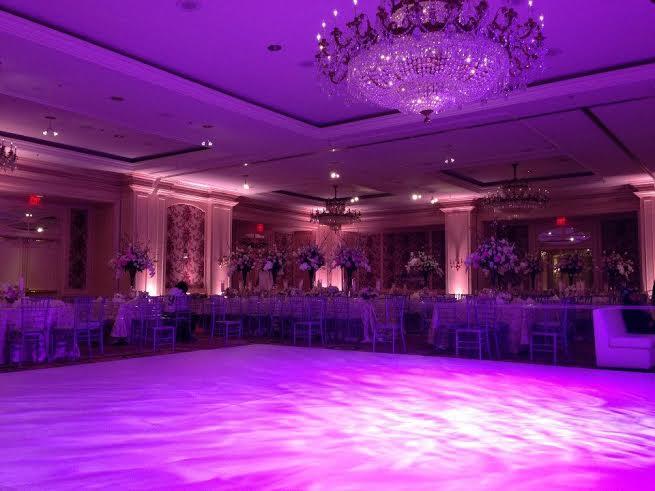 Blue Purple Wedding Uplighting